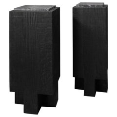 Pair of Cross Side Tables by Arno Declercq