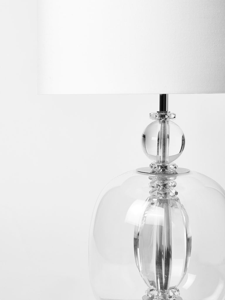 Pair of Crystal Clear Murano Glass and Plexiglass Table Lamps In Excellent Condition For Sale In Saint-Ouen, IDF