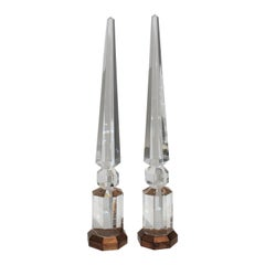 Pair of Crystal Obelisks
