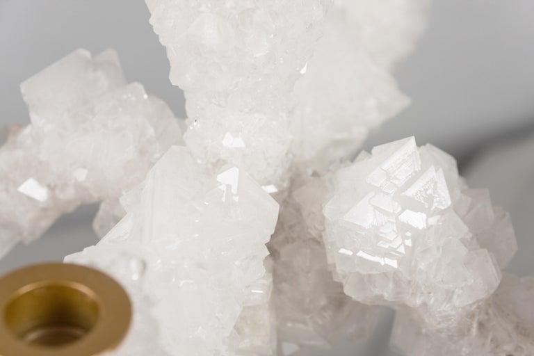 Organic Modern Pair of Crystal Overgrown Candelabras, Mark Sturkenboom For Sale