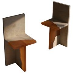 Pair of Crystal Resin and Marble, Fragment Chair, Jang Hea Kyoung