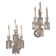 Pair of Crystal Wall-Lights Baccarat