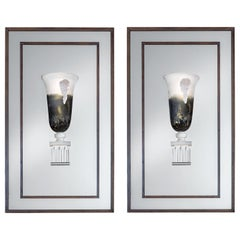 Pair of Crystal Wall Lights