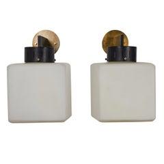 Pair of Cube Sconces by Stilnovo