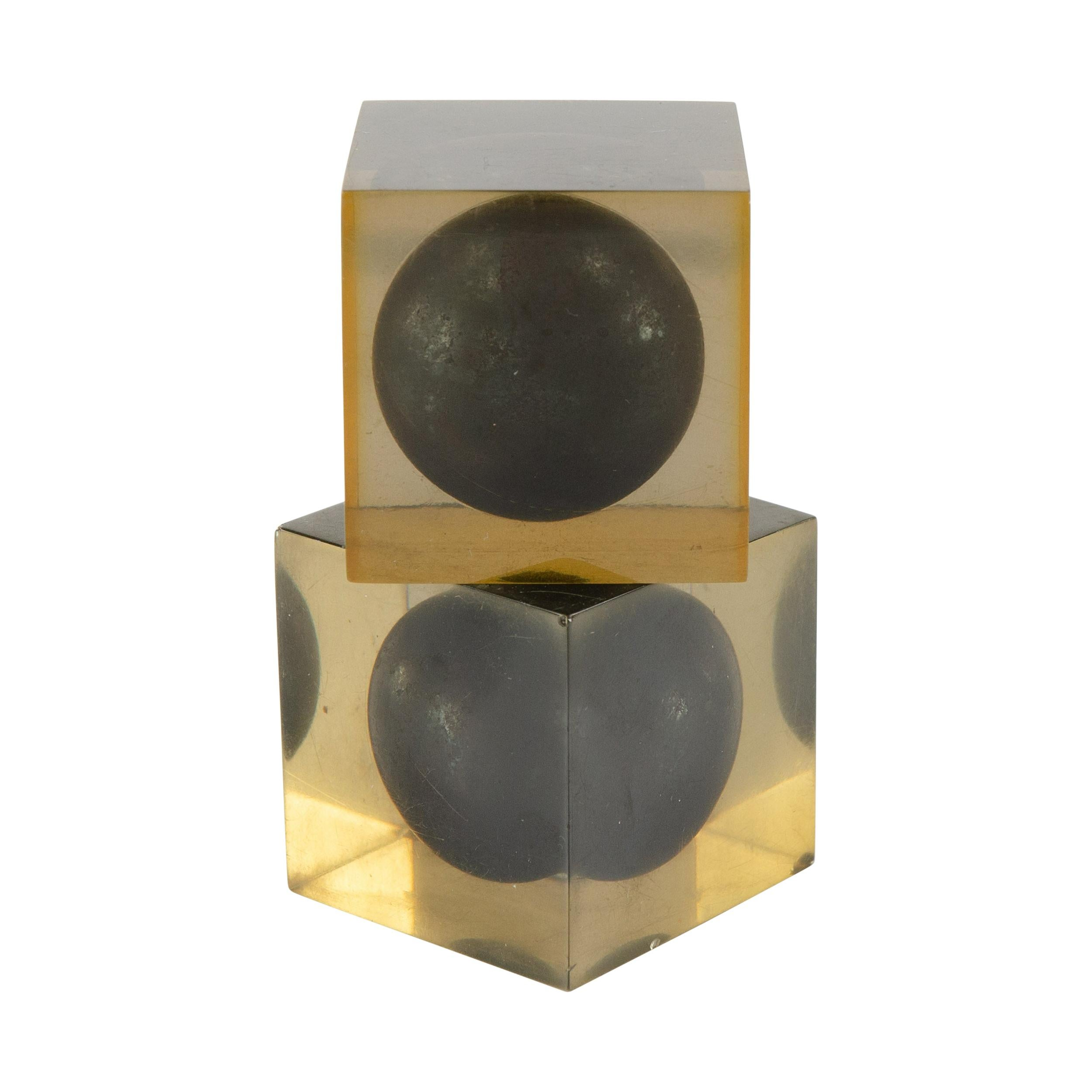 1950s Italian Pair of Cubes by Enzo Mari for Danese Milano