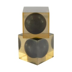Pair of Cubes by Enzo Mari for Danese Milano