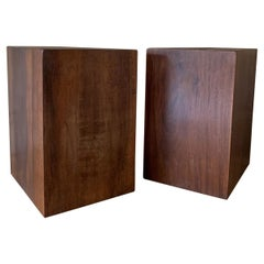 Pair of Cubes Sidetables in Reclaimed Walnut