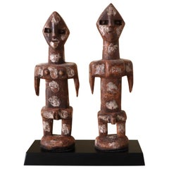 Pair of Cubist Adan Twin Figures Ghana Togo West Africa