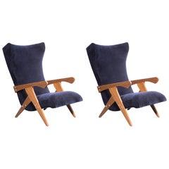 Pair of Cuca Armchairs, Brazilian Midcentury Armchair, by José Zanine Caldas