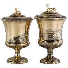 Pair of Cup and Covers by John Bridge for Rundell, Bridge & Rundell, circa 1825