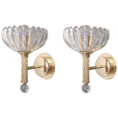 Pair of Cups Sconces by Barovier et Toso