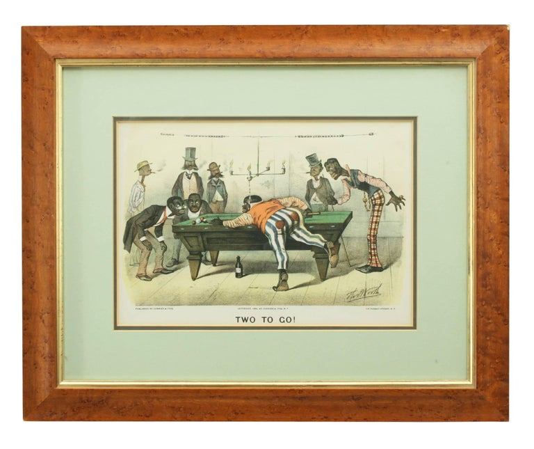 Currier & Ives 'Darktown Series' lithographs. 