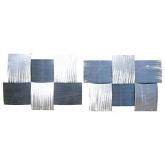 Pair of Curtis Jere Hanging Wall Stainless Steel