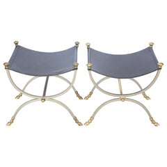 Pair of Curule Style Benches by Jansen