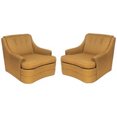 Pair of Curvaceous 1940s Lounge Chairs