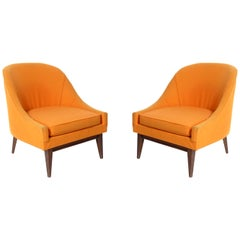 Pair of Curvaceous Midcentury Lounge Chairs
