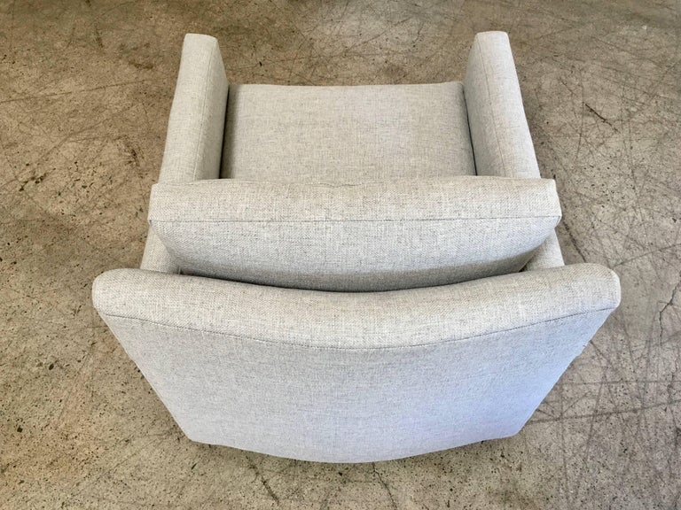Pair of Curved Back 1950s Lounge Chairs on Casters For Sale 8