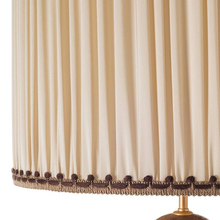 Spanish Colonial Pair of Curvy Ceramic Table Lamps For Sale