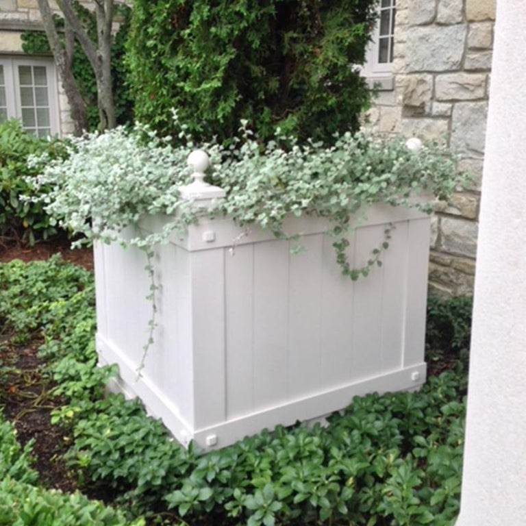 Handmade aluminum planters with a custom powder coat of your choice.