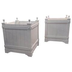 Pair of Custom, Aluminum Planters