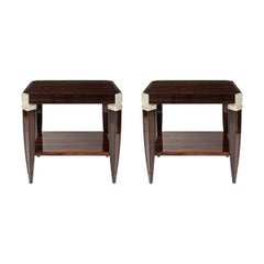 Pair of Custom Art Deco Tables Style End Tables