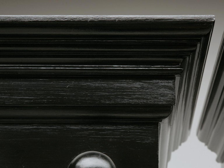 American Pair of Custom Bookcases Black Hand Painted Finish in Any Dimension or Finish For Sale