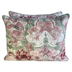 Pair of Custom Chinoiserie Printed Pillows