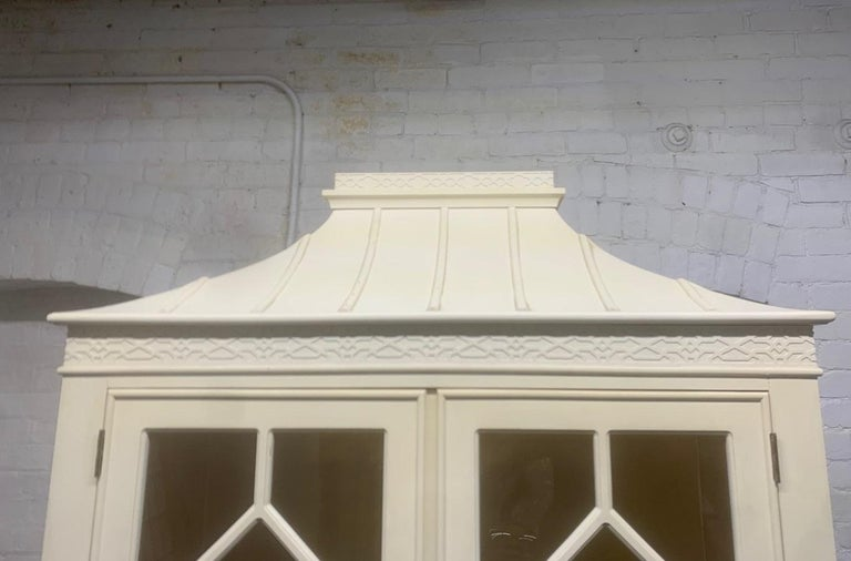 Pair of Custom Chinoiserie Style Cabinets For Sale 4