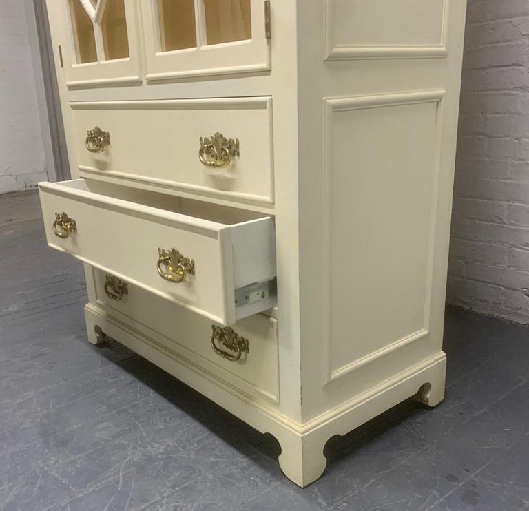 Pair of Custom Chinoiserie Style Cabinets For Sale 2