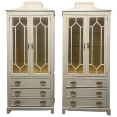 Pair of Custom Chinoiserie Style Cabinets
