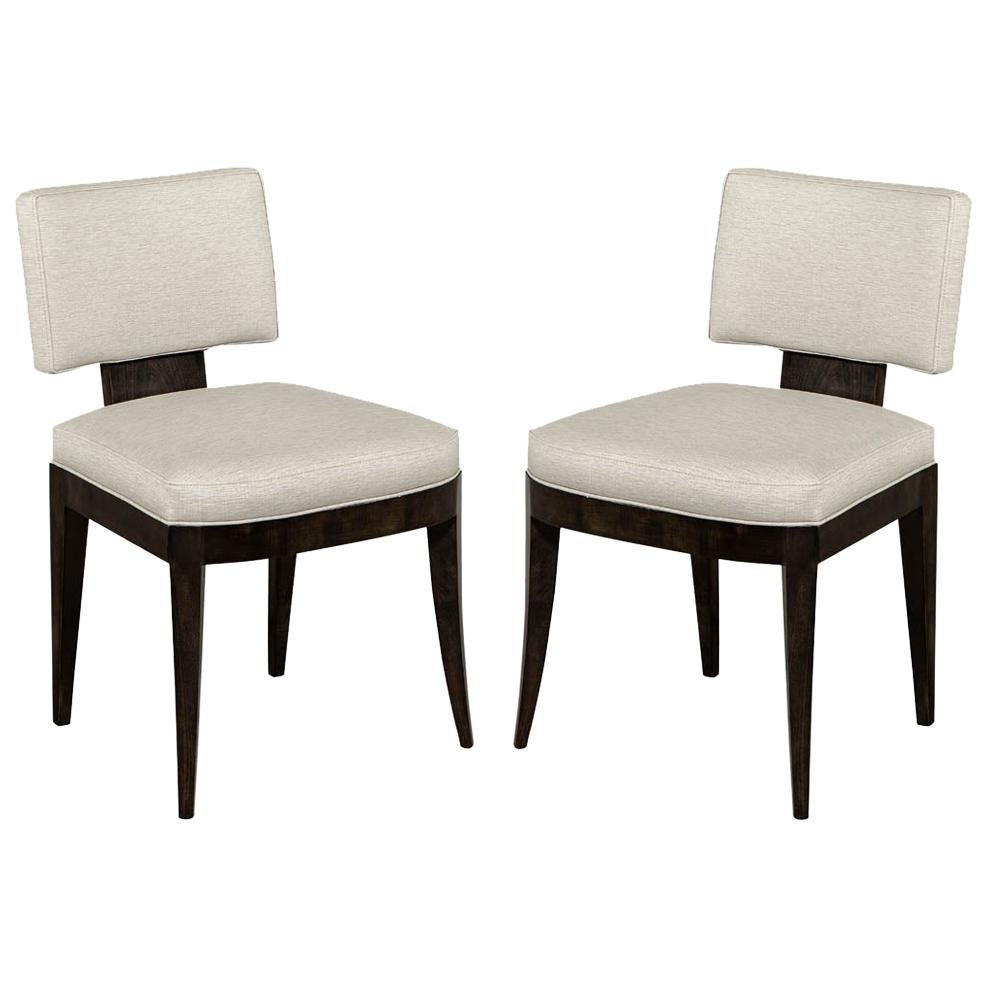 Pair of Custom Contemporary Side Chairs