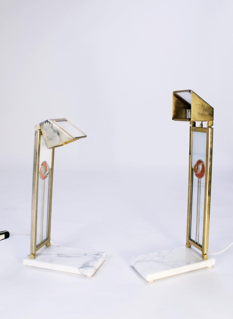 Pair of Custom Design Table Lamps in Manner of Charles Rennie Mackintosh For Sale 5