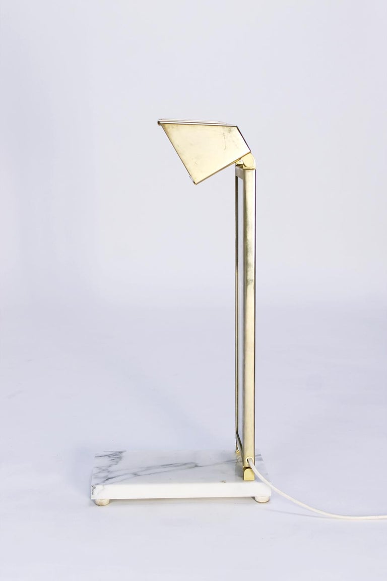 Metal Pair of Custom Design Table Lamps in Manner of Charles Rennie Mackintosh For Sale