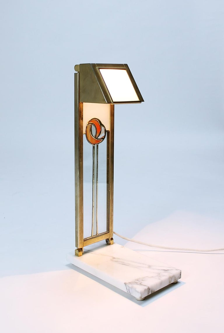 Pair of Custom Design Table Lamps in Manner of Charles Rennie Mackintosh For Sale 1