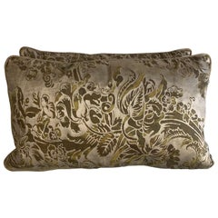 Pair of Custom Fortuny Lumbar Pillows