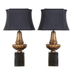 Pair of Custom Gilt Lamps