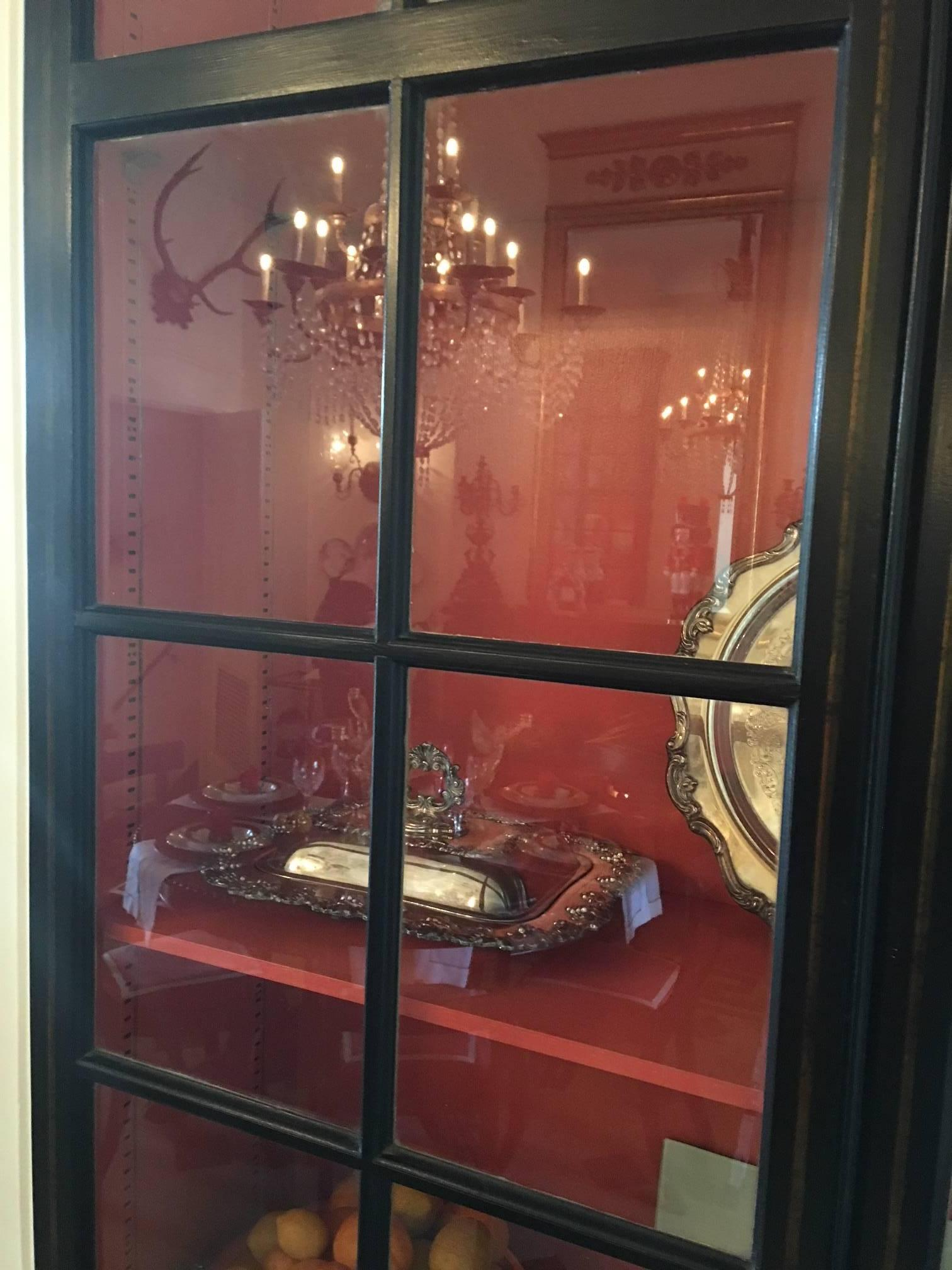 Pair Of Custom Made Ebony Display Cabinets By John Rosselli, 20th Century  For Sale 4
