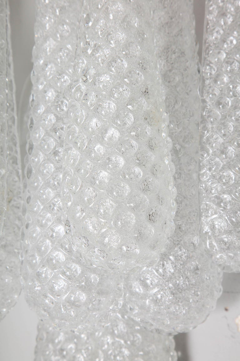 Pair of Custom Murano Honeycomb Glass Sconces For Sale 2