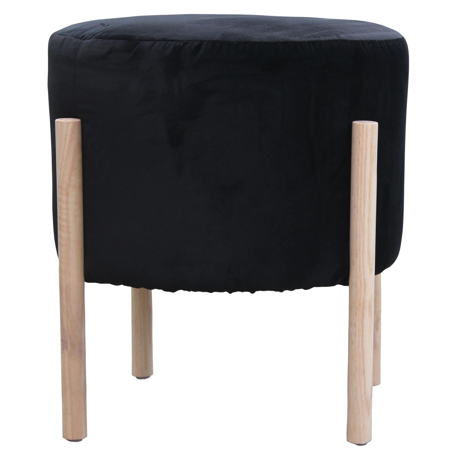 Fine Pair Of Custom Round Black Velvet And Neutral Finish Gmtry Best Dining Table And Chair Ideas Images Gmtryco