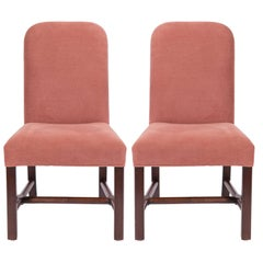 Pair of Custom Made Side Chairs from Axel Vervoordt Covered in Linen