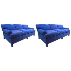 Pair of Custom Sofas by Thomas De Angelis