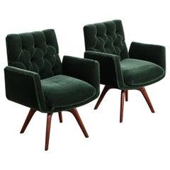 Pair of Custom Swivel Chairs by Vladimir Kagan