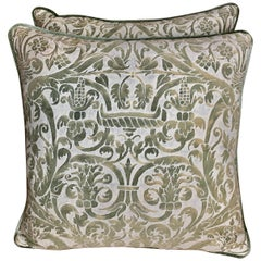 Pair of Custom Vintage Fortuny Pillows