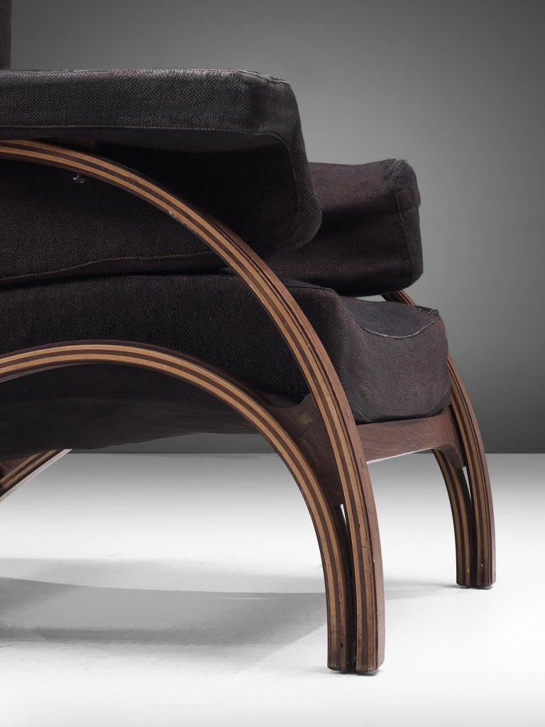 Pair of Customizable Lounge Chairs by Giampiero Vitelli In Good Condition For Sale In Waalwijk, NL
