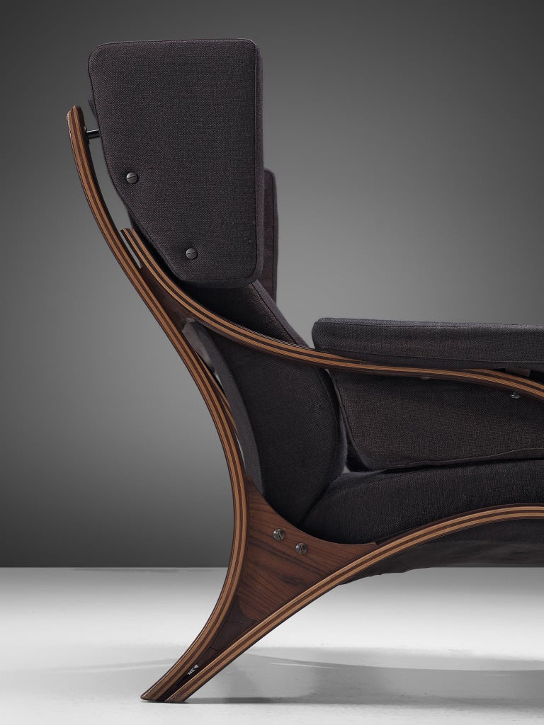 Mid-20th Century Pair of Customizable Lounge Chairs by Giampiero Vitelli For Sale