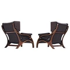 Pair of Customizable Lounge Chairs by Giampiero Vitelli