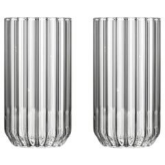 Pair of Czech Contemporary Dearborn Highball Large Glasses Handmade, in Stock