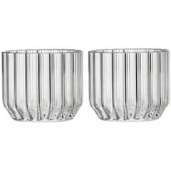 Set of 2 Contemporary Fluted Dearborn Wine & Cocktail Glasses -  in Stock in EU