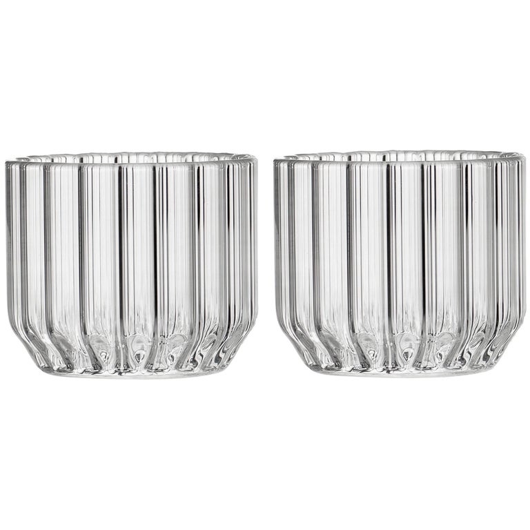 Pair of Czech Contemporary Dearborn Wine Cocktail Glasses Handmade, in Stock For Sale