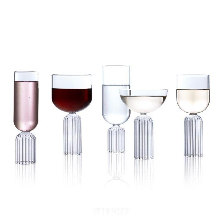 Hand-Crafted EU Clients Pair of Czech Contemporary May Champagne Flute Glasses, in Stock For Sale